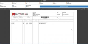 Visualizzazione documento con RDO nel portale Globe